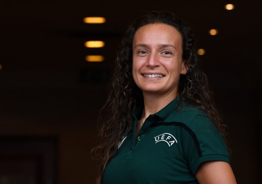 Ivana Projkovska – the first Macedonian referee at the UEFA Women's Under-19 Championship 2019