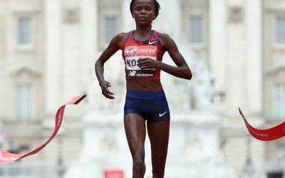 Brigid Kosgei broke the 16-year-old marathon world record